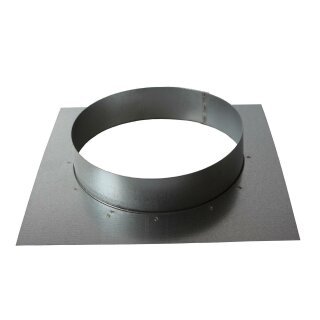 Wandflansch 80mm (Platte: 160 x 160mm)