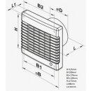Vents Badlüfter mit Platte 125mm / 185cbm (125 MA THL)