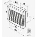 Vents Badlüfter mit Platte 150mm / 295cbm (150 MA TL)
