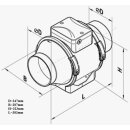 Vents TT PRO 250mm (1110 / 1400cbm) mit 2-stufen Schalter