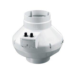 Vents Rohrventilator 125mm / 355cbm mit Thermostat und Drehzahlsteuerung (VK 125 U)