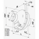 Vents Rohrventilator 315mm / 1340cbm (VK 315)