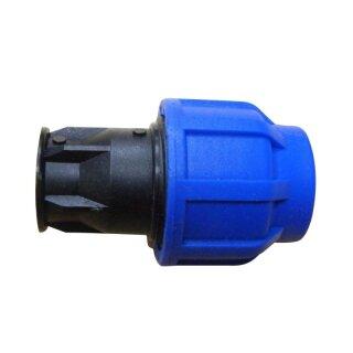 Endstopfen für 16mm PE-Rohr verschraubt