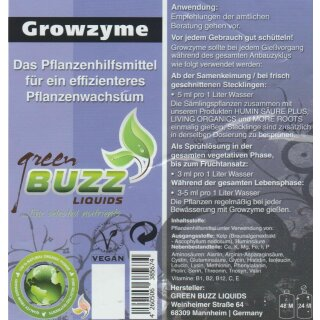 Green Buzz Liquids Growzyme 10L
